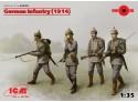 ICM Fanteria Tedesca Prima Guerra Mondiale Figure in kit di Montaggio