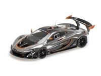 ALMOST REAL McLAREN P1 GTR CHROME AND GLOSS BLACK MODELLINO