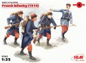 ICM Fanteria Francese 1914 Figure in kit di Montaggio