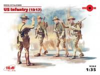 ICM Fanteria Americana 1917 Figure in kit di Montaggio