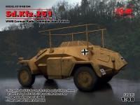 ICM Autoblindo Sd.Kfz.261 Modellino in kit di Montaggio