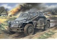 ICM Autoblindo Centro-Radio Sd.Kfz.260 Modellino in kit di Montaggio