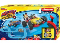 Carrera 1.First Pista Elettrica Analogica Mickey and the Roadster Racers