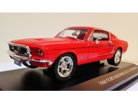 LUCKY DIE CAST FORD MUSTANG GT 2+2 FASTBACK 68 ROSSA MODELLINO