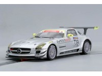 Slot Car Mercedes SLS AMG GT3 Nurburgring 2010 Scaleauto