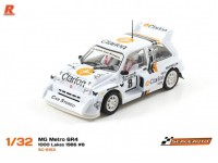 Slot Car MG Metro 6R4 Rally Finlandia 1986 Scaleauto