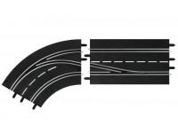Carrera Curva con Cambio corsia sinistra per Piste Elettriche