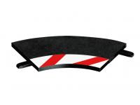 Carrera 3 Cordoli interni per curve 1/60° più 2 terminali accessori per Autopiste