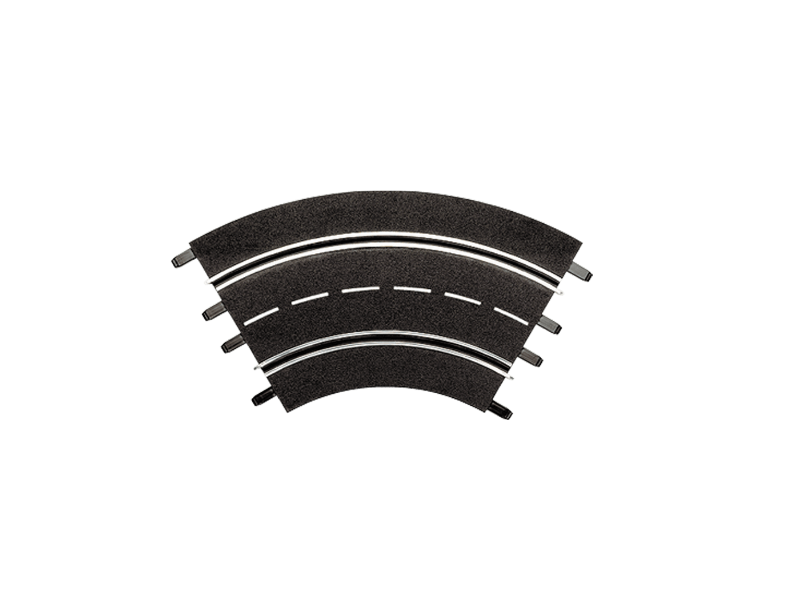 Carrera Curva 1/60° 3 pezzi Estensioni per Piste Elettriche