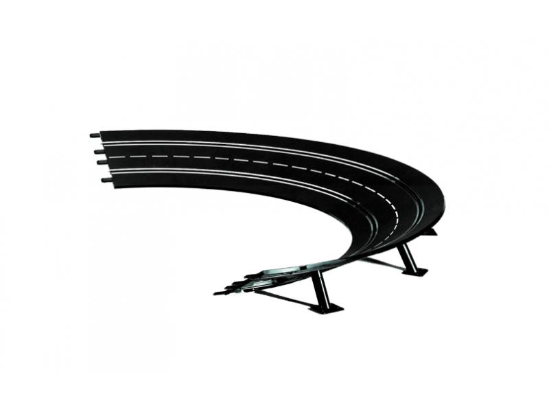 Carrera Curve paraboliche 2/30° Pezzi Estensione Piste elettriche