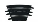 Carrera Curva 1/30° 6 pezzi Ricambi per Piste Elettriche