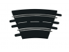 Carrera Curva 4/15° 12 pezzi Ricambi per Piste elettriche