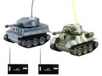 Happycow Set di 2 carri armati RC con dispositivo per battaglia