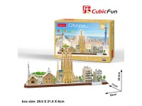 CUBICFUN BARCELLONA SKYLINE IN PUZZLE 3D