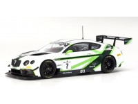 ALMOST REAL BENTLEY CONTINENTAL GT3 LAUNCH LIVERY n.7 2016 MODELLINO
