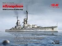 Nave da battaglia SMS Kronprinz Kit di Montaggio ICM