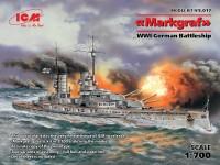 Nave da battaglia SMS Markgraf Kit di Montaggio ICM