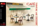 Miniart Café Furniture & Crockery Modellini in kit di Montaggio
