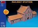 Miniart Stazione Ferroviaria Modello in kit di Montaggio