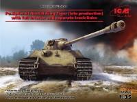 ICM Carro Armato Pesante Tedesco Pz.Kpfw.VI Ausf.B King Tiger Modellino in kit
