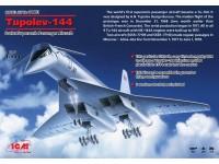 ICM Aereo supersonico tupolev-144 Modellino in kit