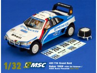Slot Car Peugeot 405 T16 Grand Raid Dakar 1988 MSC Competition