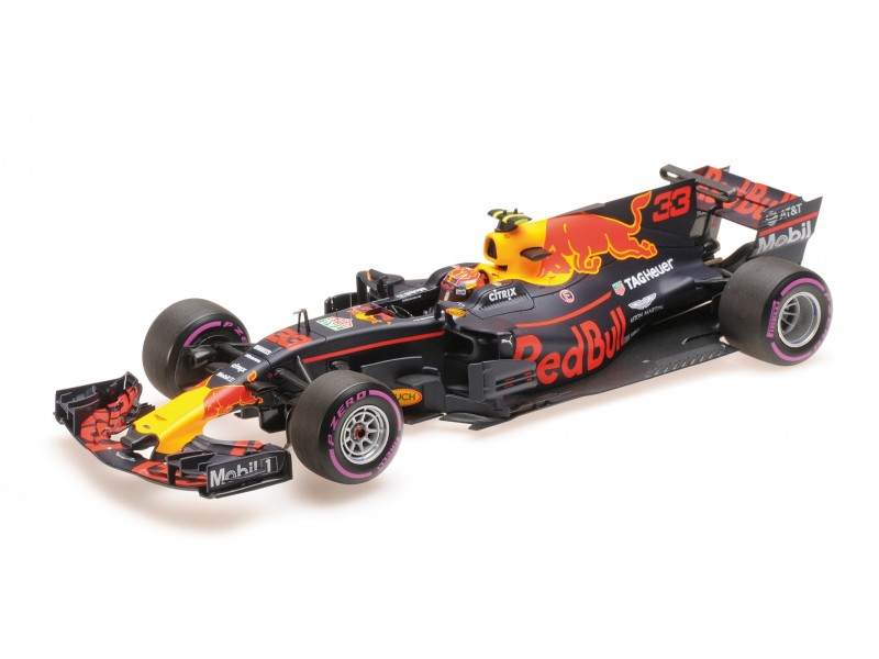 MINICHAMPS 1/18 RED BULL RACING TAG HEUER RB13 VERSTAPPEN GP MESSICO 2017 MODELLINO