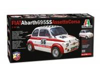 Italeri 1/12 Fiat Abarth 695SS/Assetto Corsa Scatola di Montaggio