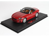 BBR Models Concept 18 Fiat 124 Spider Soft Top Solid Red Modellino