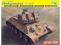 Dragon 1/35 Flakpanzer T-34r modello in kit di montaggio