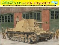 Dragon 1/35 leFH18/40/2 (sf) auf G.W. Pz.Kpfw.III/IV modello in kit di montaggio