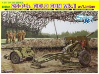Dragon 1/35 British 25-Pdr. Field Gun Mk.II w/Limber modello in kit di montaggio