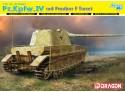 Dragon 1/35 Pz.Kpfw.IV mit Panther F Turret modello in kit di montaggio