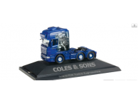 "Herpa Scania R TL 6x2 rigid tractor ""Coles & Sons customs"" Modellino"