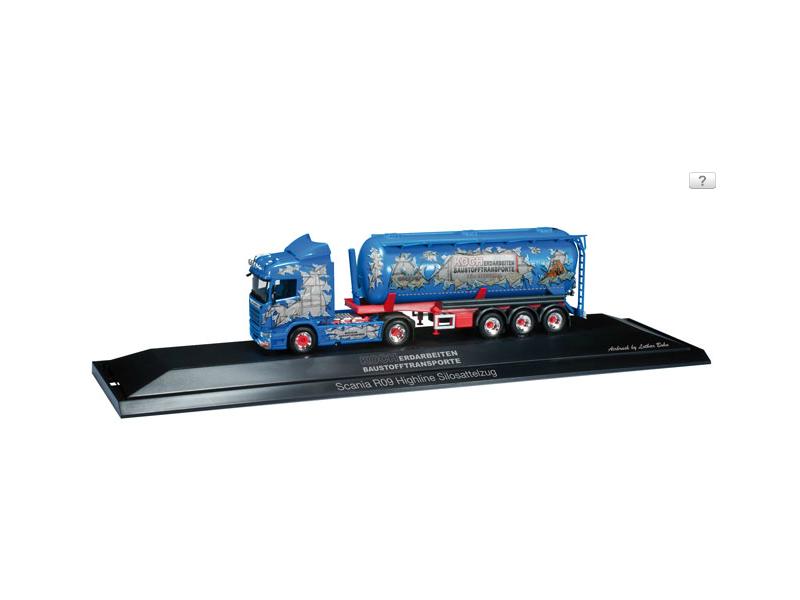 "Herpa Scania R silo semitrailer ""Koch Baustoffe"" Modellino"