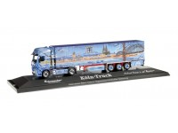 """Herpa Mercedes-Benz Actros Gigaspace """"Cologne Truck"""" Modellino"""