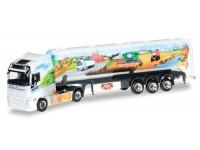 "Herpa Volvo FH Gl. silo semitrailer ""ASM Transporte"" Modellino"