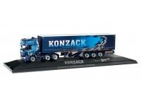 "Herpa Scania R TL curtain canvas semitrailer ""Konzack"" Modellino"