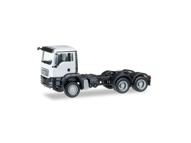 Herpa MAN TGS M all-wheel rigid tractor Bianco Modellino