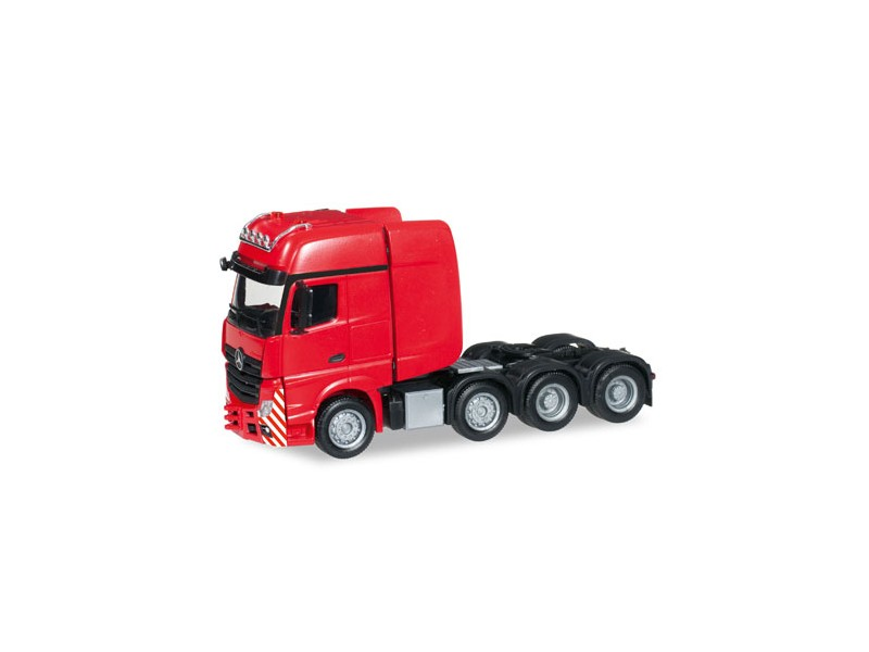 Herpa Mercedes-Benz Actros Gigaspace SLT rosso Modellino