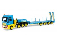 "Herpa MAN TGX XXL 540 low boy semitrailer ""Siefert Spedition"" Modellino"