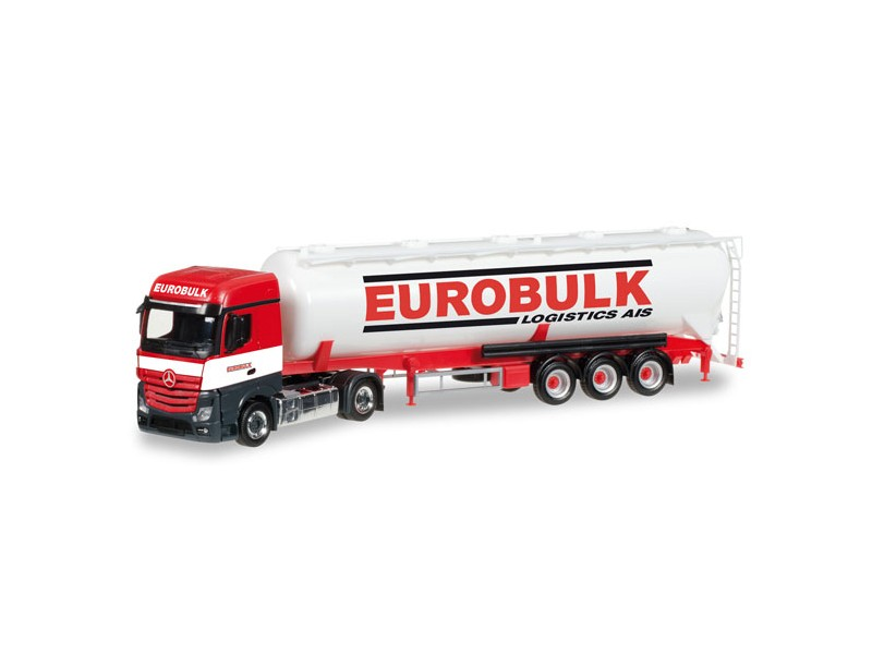 "Herpa Mercedes-Benz Actros Streamspace 2.5 ""Eurobulk"" Modellino"