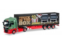 Herpa MAN TGX XXL Euro 6 Wandt / 10 Jahre Truck in the box Modellino