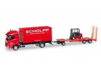 Herpa Mercedes Benz Arocs Container-LKW TU3 Modellino