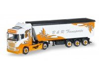 "Herpa Scania R HL ""B&R Transporte / Arrow Hunter"" Modellino"
