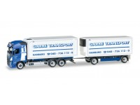 "Herpa Volvo FH Gl. interchangeable box trailer ""Spedition Garbe"" Modellino"