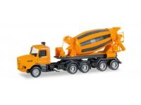 Herpa Scania 142 Hauber concrete mixer semitrailer Modellino