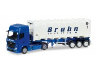 "Herpa Mercedes-Benz Actros Giga ""Bruhn"" Modellino"
