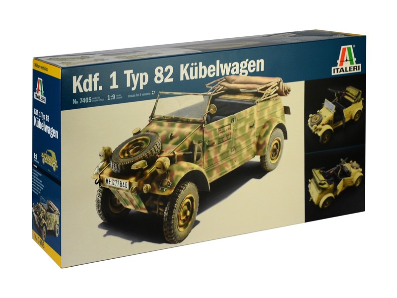 Italeri 1/9 kdf.1 typ 82 kubelwagen modello in kit di Montaggio