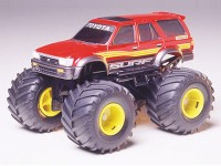 Tamiya Mini 4WD Wild Series Jr Toyota 4-Runner Kit di Montaggio